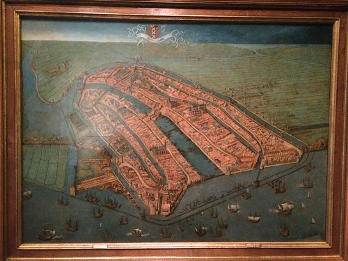 Amsterdam Museum: oldest surviving map of Amsterdam, early 16th Century