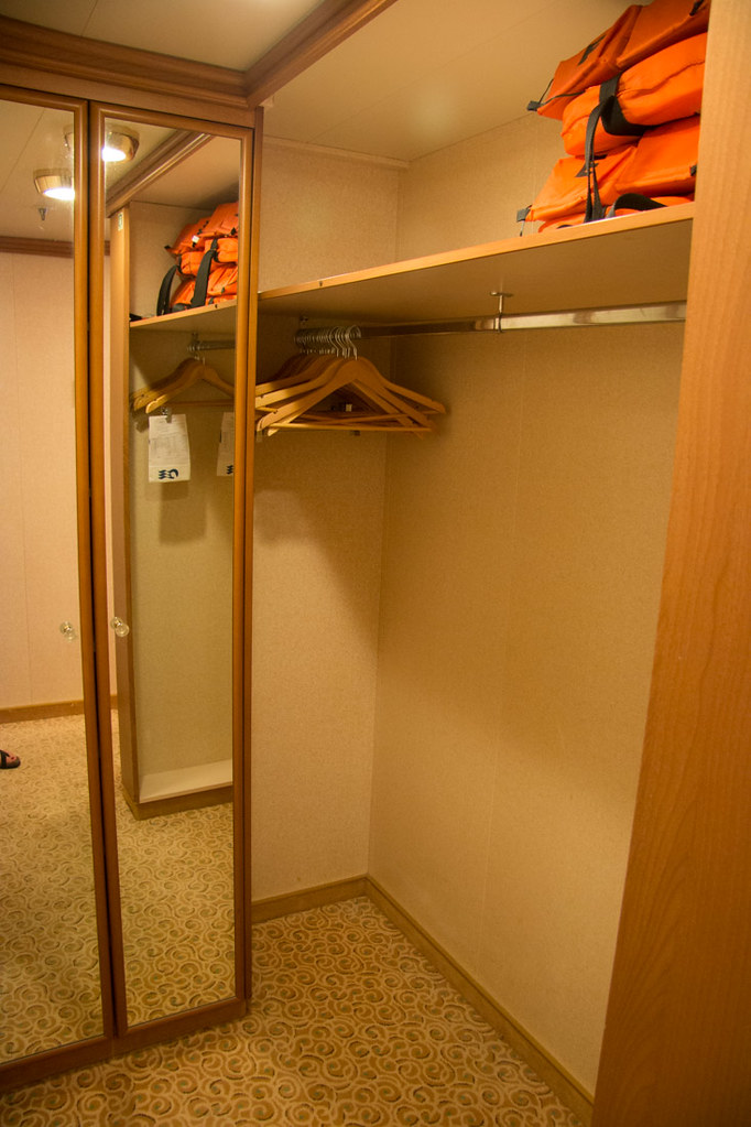 Shelves in the mini suite | Ruby Princess review