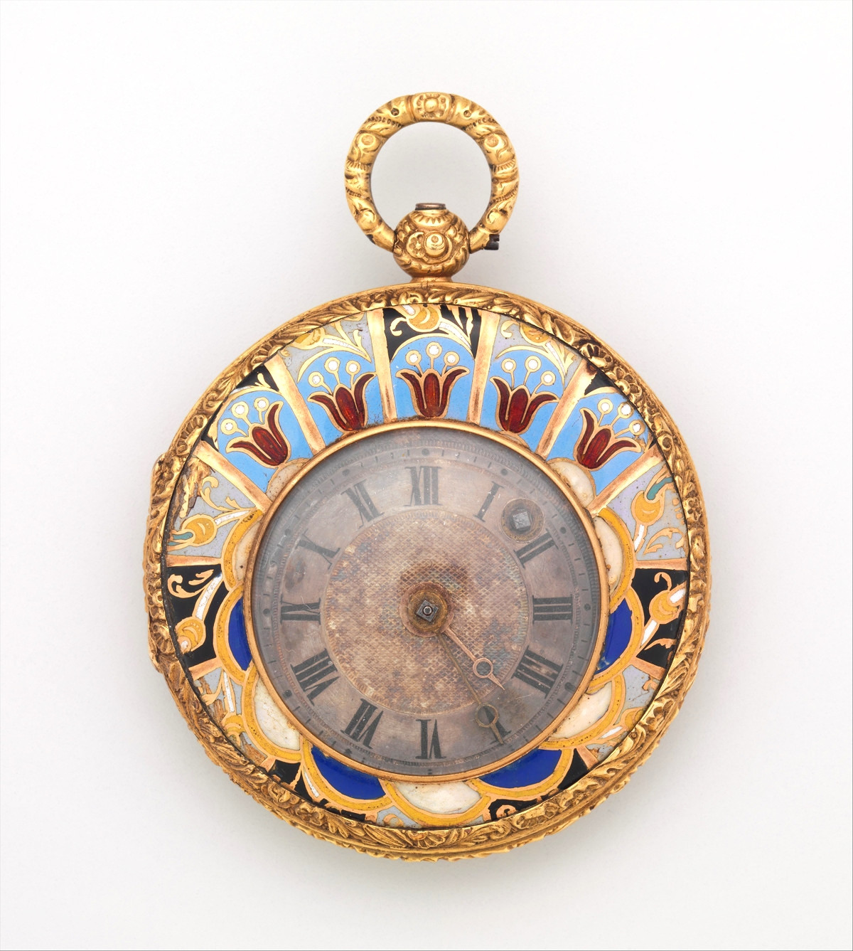 1820. Watch. Swiss, Geneva. Gold, enamel, silver. metmuseum