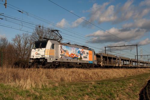 HSL Logistik 91 80 6 186 181-4 D-Rpool - Kapelle op den Bosch-Kleinestraat