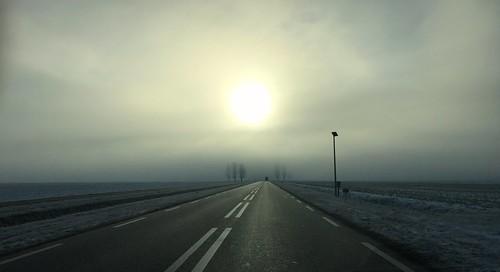 Thick fog on the horizon