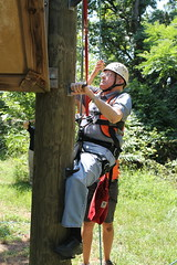 An 83 year-old Stillwater, Okla. woman just checked the last item off her bucket list with the help of the Oklahoma State University's Outdoor Adventure.   Nancy Luce, a resident at Primrose Retirement Community, zip lined on June 30, 2015, at OSU's Camp Redlands to complete the last item on her bucket list. After arriving at her retirement community last year, Luce decided to make a bucket list. Other items completed on her bucket list include tandem skydiving and riding a motorcycle.