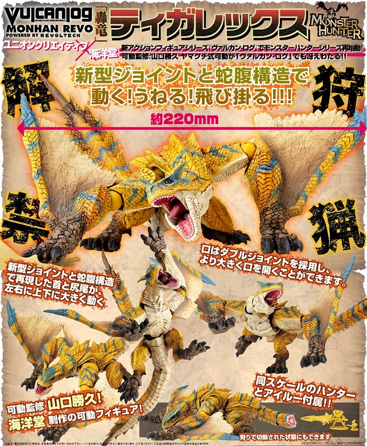 UC X 海洋堂 可動魔物系列 轟龍10月登場!
