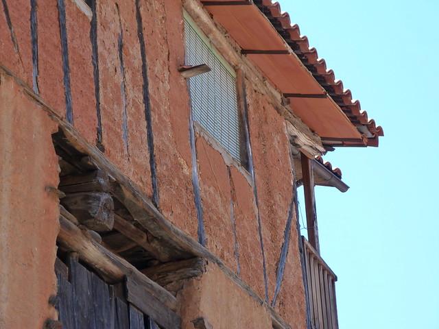 Fachada típica de la Sierra de Gata (Extremadura)