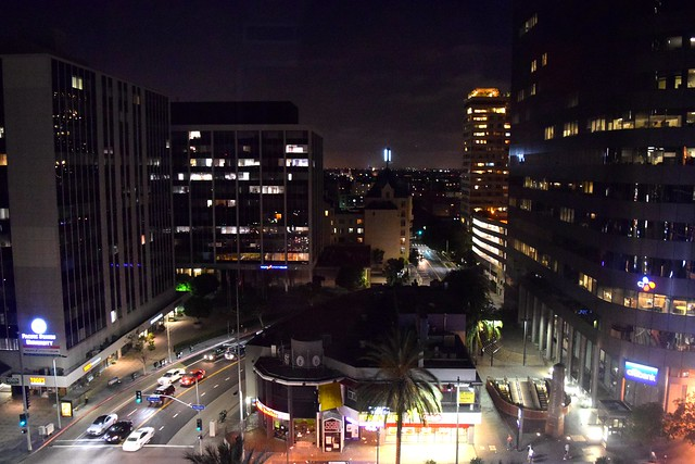 Nighttime at The Line Hotel, Koreatown