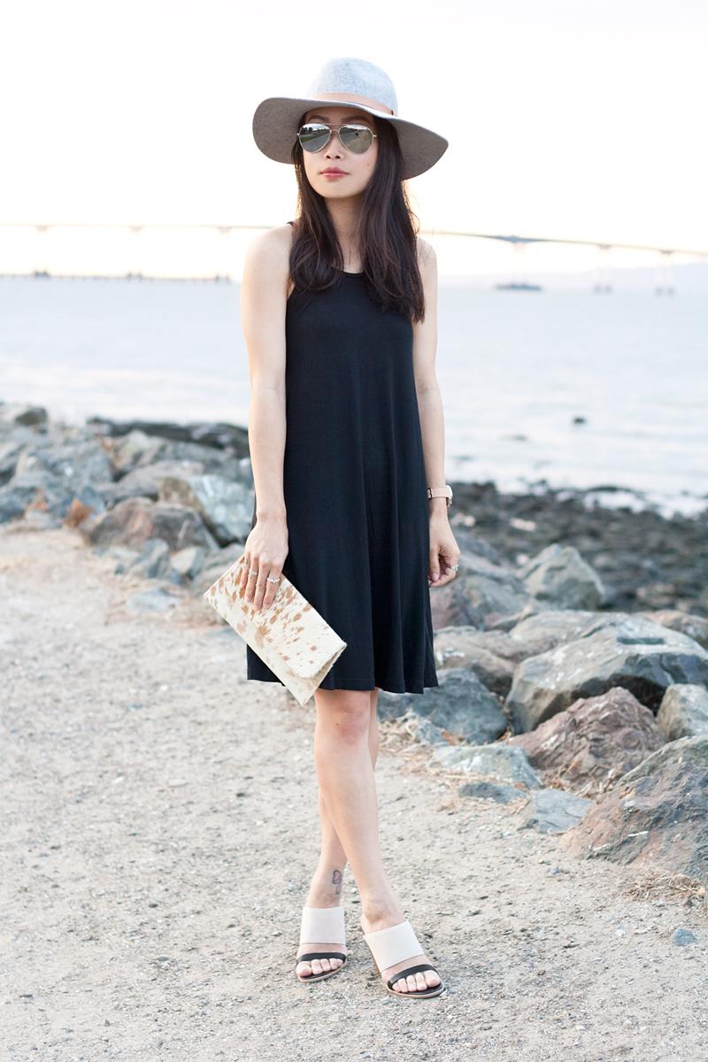 05-black-dress-fedora-hat-seychelles-mules-sf-sanfrancisco-style