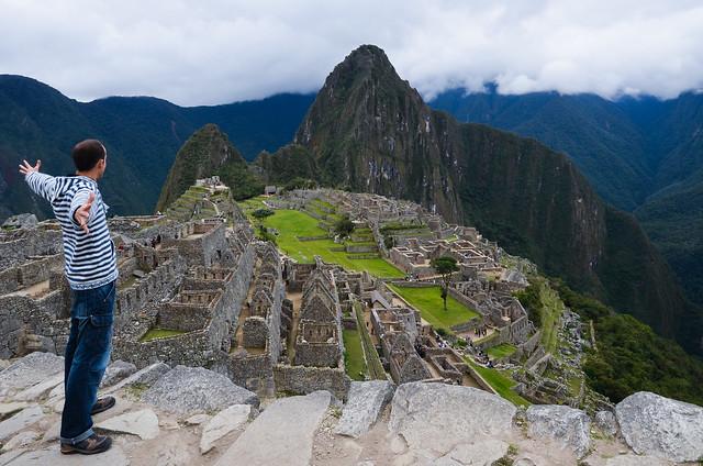 Miguel Egido, de Diario de un Mentiroso, frente a Machu Picchu