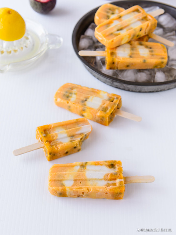 Lemon Coconut & Passionfruit Popsicles