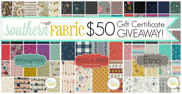 $50 GC Giveaway with Southern Fabrics!