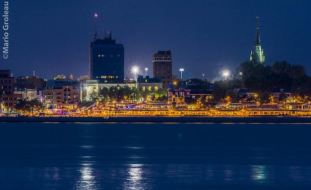 Trois-Rivières vue du quai de Ste-Angèle