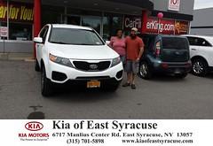 Kia of East Syracuse Syracuse Customer Reviews New York Car Dealer Testimonials -Sharif Bey