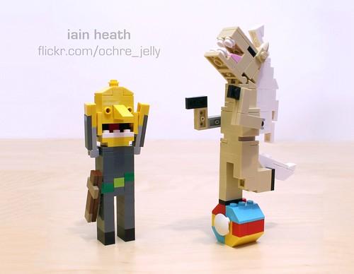 Adventure Time custom: Lemongrab and James Baxter