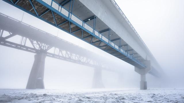 Dudley B Menzies (LRT) Bridge and High Level Bridge