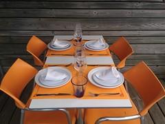 Mesa para cuatro con vistas