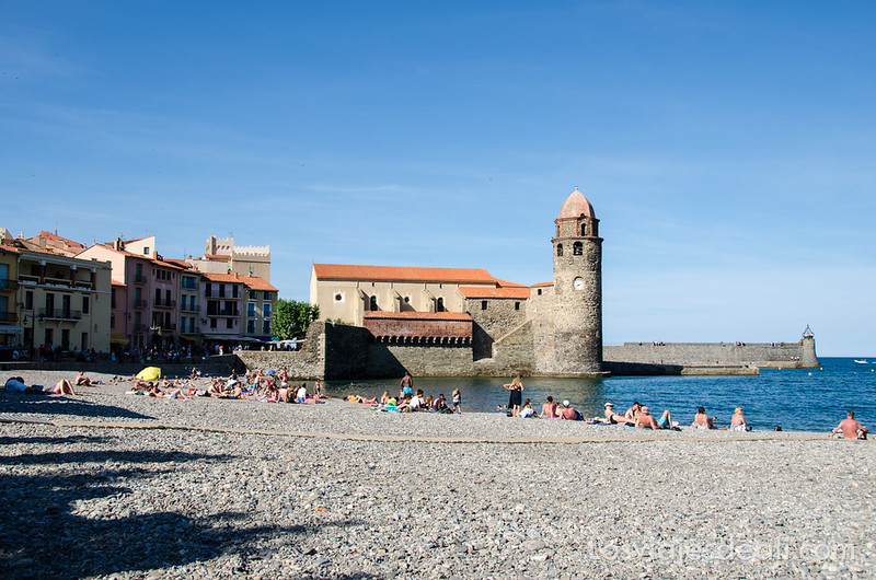 playa de Collioure y Machado