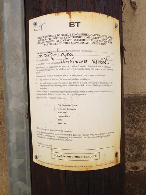 Pole Objection Notice