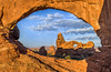 Sunrise, Turret Arch through North Window, Arches National Park: a Trophy by GeorgeOfTheGorge
