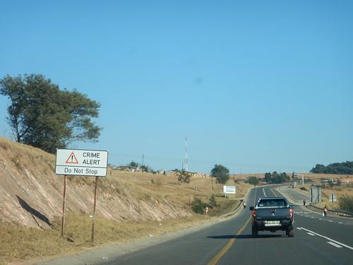 Back in South Africa, Crime Alert