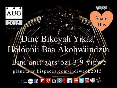 Diné: Diné Bikéyah Yikáá' Hólóonii Baa Ákohwiindzin (Indigenous Peoples Week)  #ipw5 @NativeInnovate @techKialo @NavajoWeb @navajotimes @NavajoMuseum @TwinArrowsAZ
