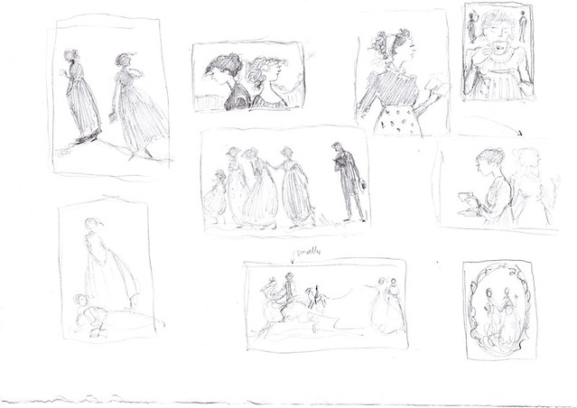 Sense and Sensibility - sketches