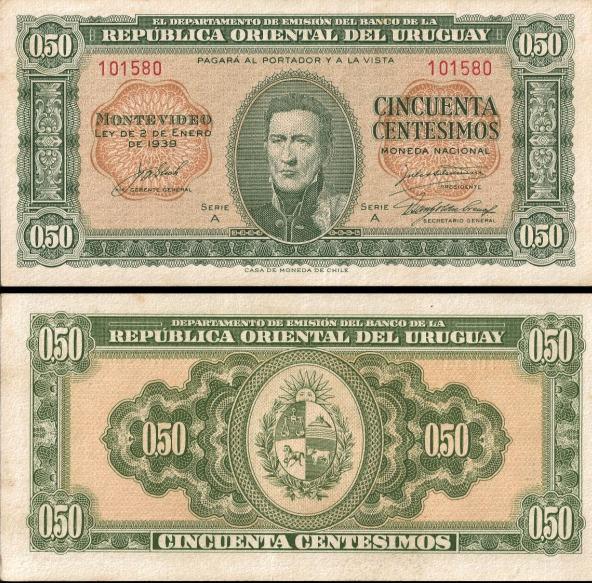 50 centesimos Uruguay 1939