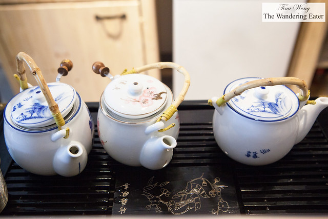 Teapots for my tea tastings