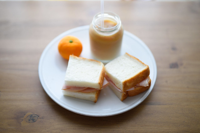 Ham butter sandwich 1