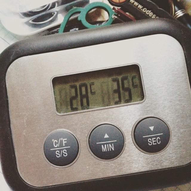 Solo un termometro da cucina poteva trasmettere la giusta ...