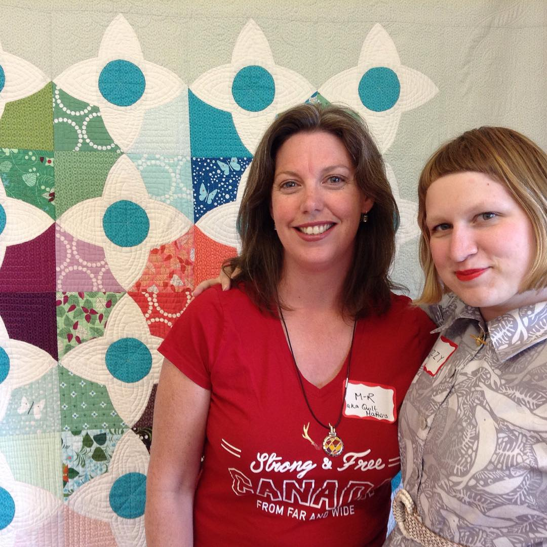 Great class with Lizzy House today! 😃 Thanks @Lizzyhouse! #meadowquiltworkshop #ottmqg #meadowquilt