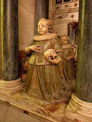 Kneeling children on a Rutland tomb, St Mary's Bottesford
