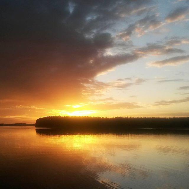 Auringonlasku, Luumäki, Suomi