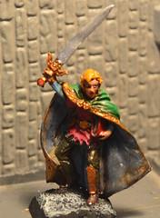 Elf Wizard with Sword and Spellbook