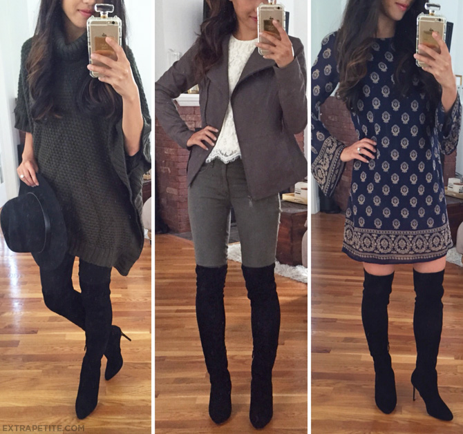 how to style over the knee boots petite