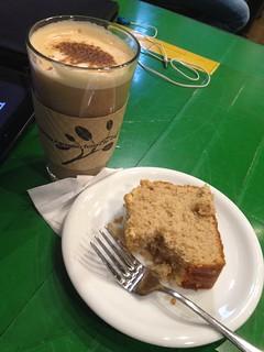 Pumpkin Bread and Vanilla Latte