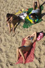 Santa Monica sunbathers