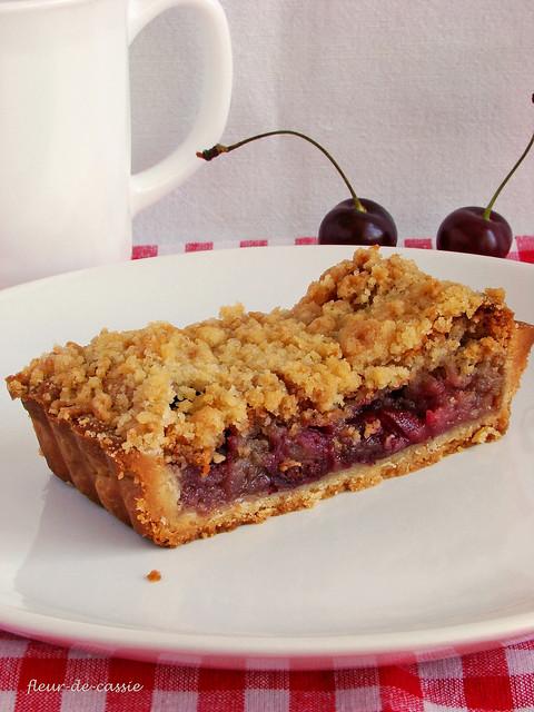 вишневый пирог с штрейзелем 2