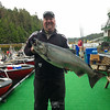 42-pound Chinook salmon, caught at Boulder Point
