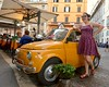 Sophie and a Fiat 500