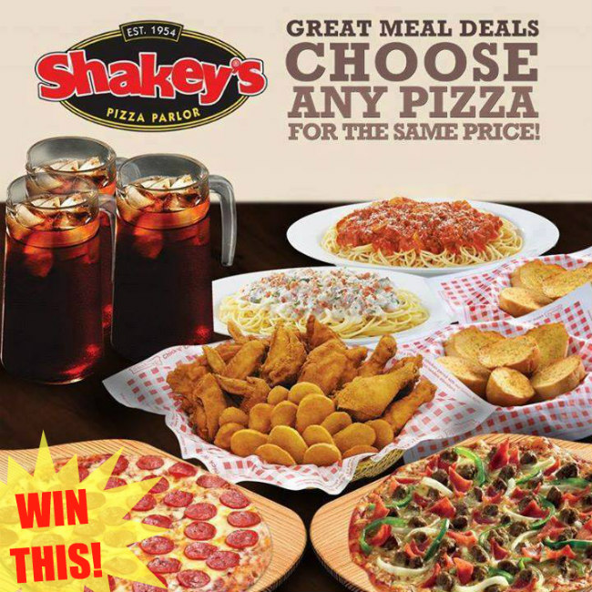 Shakey's Monster Meal Deal Giveaway