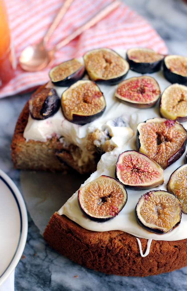 Almond Honey Cake with Roasted Figs and Mascarpone Frosting | Joanne ...