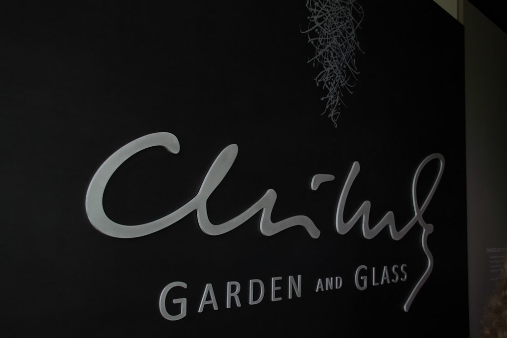 Chihuly Garden and Glass sign at entrance