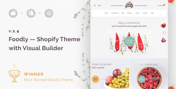 Foodly v1.0 - One-Stop Shopify Grocery Shop