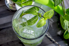 Mojito cuban cocktail with white rum lime sugar