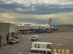 British Airways 747 at JFK