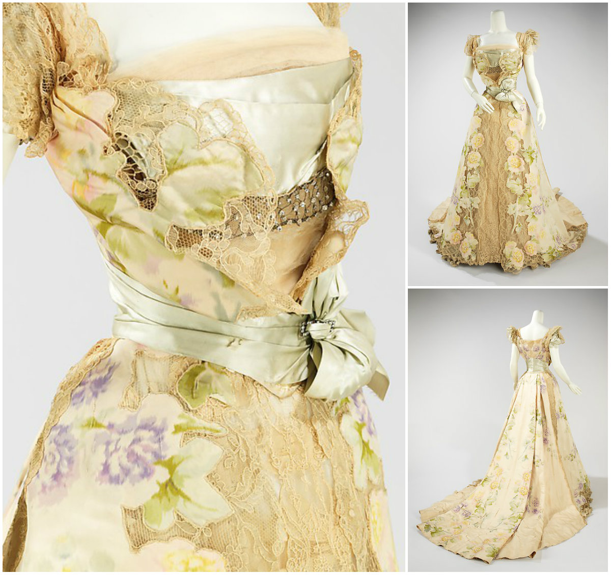 1902. Evening Dress. Silk, rhinestones, metal. metmuseum