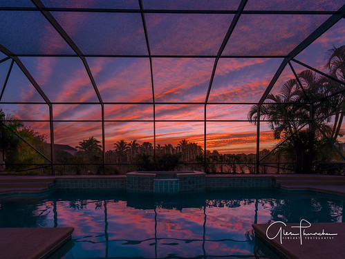 sony a7r2 sonya7r2 ilce7rm2 zeissfe1635mmf4zaoss fx fullframe scenic landscape waterscape nature outdoors sky clouds colors sunrise reflections shadows tropical pool palmcity florida southeastflorida martincounty