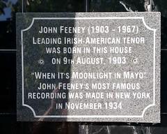 Photo of John Feeney black plaque