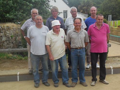 14/07/2015 - Saint Jean du Doigt : Les finalistes du concours de la Fédération en quadrettes mêlées