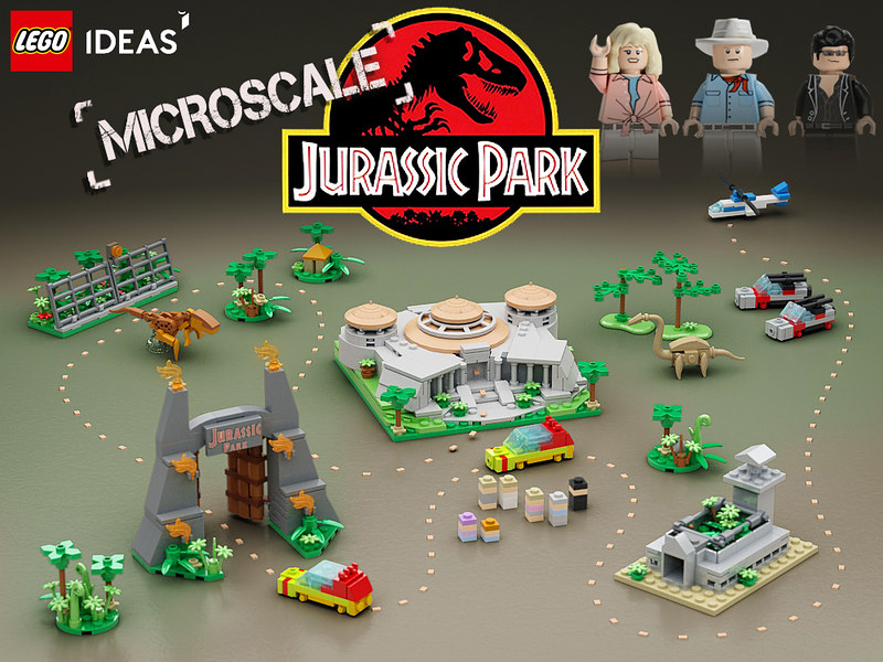 LEGO Jurassic Park Microscale | Lego Ideas