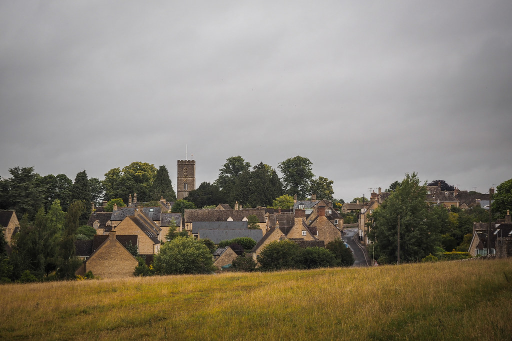 Cycling through Charlbury, England